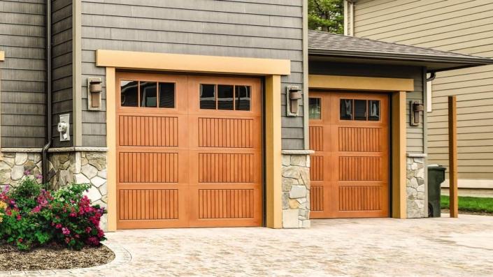 Impression Fiberglass Garage Door